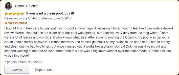 Dolphin Premier Robotic Pool Cleaner Customers Review
