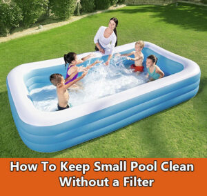 How to keep a small pool water clean without a filter